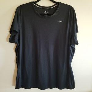 Nike dri-fit 2X black tshirt
